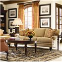 Thomasville® Special Values - Westport Stationary 3-Seat Sofa with Decorative Nail Head Trim - Shown in Room Setting with Westport Chair