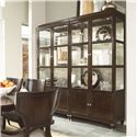 Thomasville® Spellbound Curio Cabinet w/ Touch Dimmer - Two Separate Curios Shown Together in Room Setting