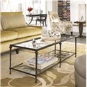 Thomasville® Spellbound Rectangular Coffee Table w/ Glass Top - Shown in Room Setting