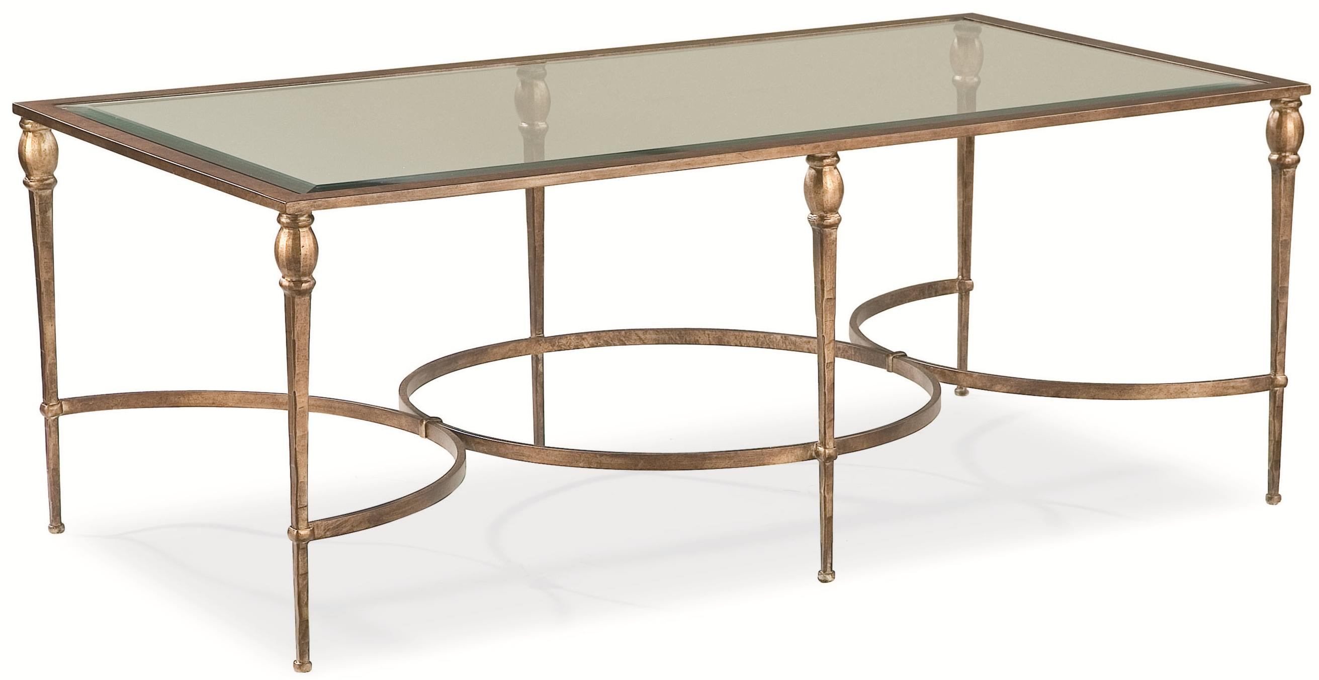 Thomasville Stiletto 131 Rectangular Coffee Table w Glass