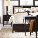 Thomasville® Studio 455 Queen Peninsula Platform Bed  - Shown with Bedside Tables and Desk Chair