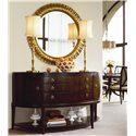 Thomasville® Studio 455 Sideboard Credenza  - Shown with Round Mirror
