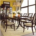 Thomasville® Studio 455 Dining Side Chair - Shown with Double Pedestal Dining Table, Arm Chairs, and Bunching Curios