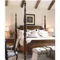 Thomasville® Tate Street California King Poster Bed w/ Reeded Posts  - Shown in Room Setting