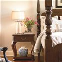 Thomasville® Tate Street Nightstand w/ Halogen Lighting - Shown in Room Setting