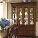 Thomasville® Tate Street China Cabinet w/ Mirrored Back - Shown in Room Setting