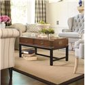Thomasville® Tate Street Campaign Coffee Table w/ 2 Drawers - Shown in Room Setting