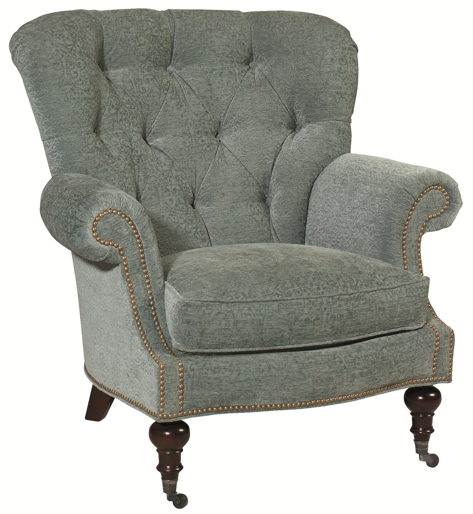 Thomasville® Upholstered Chairs And Ottomans Vienna Tufted Back Chair With  Nail Head Trim   Sprintz Furniture   Wing Chairs Nashville, Franklin, ...