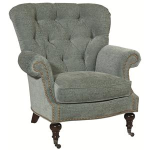 Thomasville® Upholstered Chairs and Ottomans Vienna Tufted Back Chair