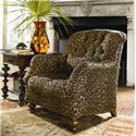 Thomasville® Upholstered Chairs and Ottomans Walden Tufted Back Arm Chair - Shown in Room Setting