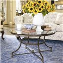 Thomasville® Vintage Chateau Round Glass Top Cocktail Table - Shown in Room Setting