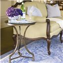 Thomasville® Vintage Chateau Glass Top Round Lamp Table - Shown in Room Setting