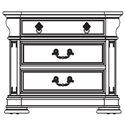 Thomasville® Brompton Hall 3-Drawer Nightstand w/ Black Absolute Granite Top