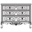 Thomasville® Brompton Hall 3-Drawer Accent Chest