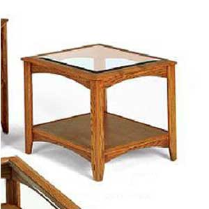 Thornwood Madison Glass Top Corner Table