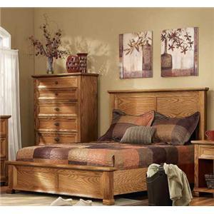 Bedroom Furniture Ventura thornwood ventura library headboard queen captain's bed with