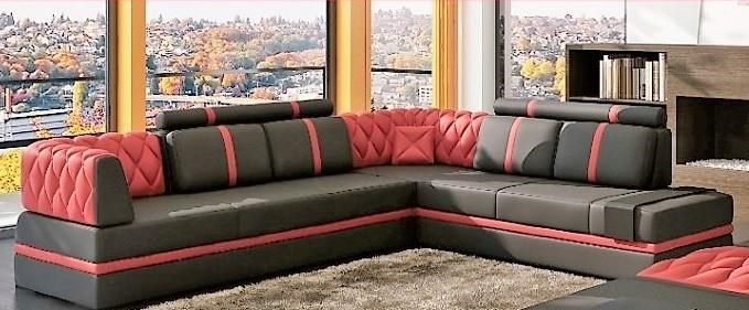 3 Piece Sectional W Raf Chaise Ottoman