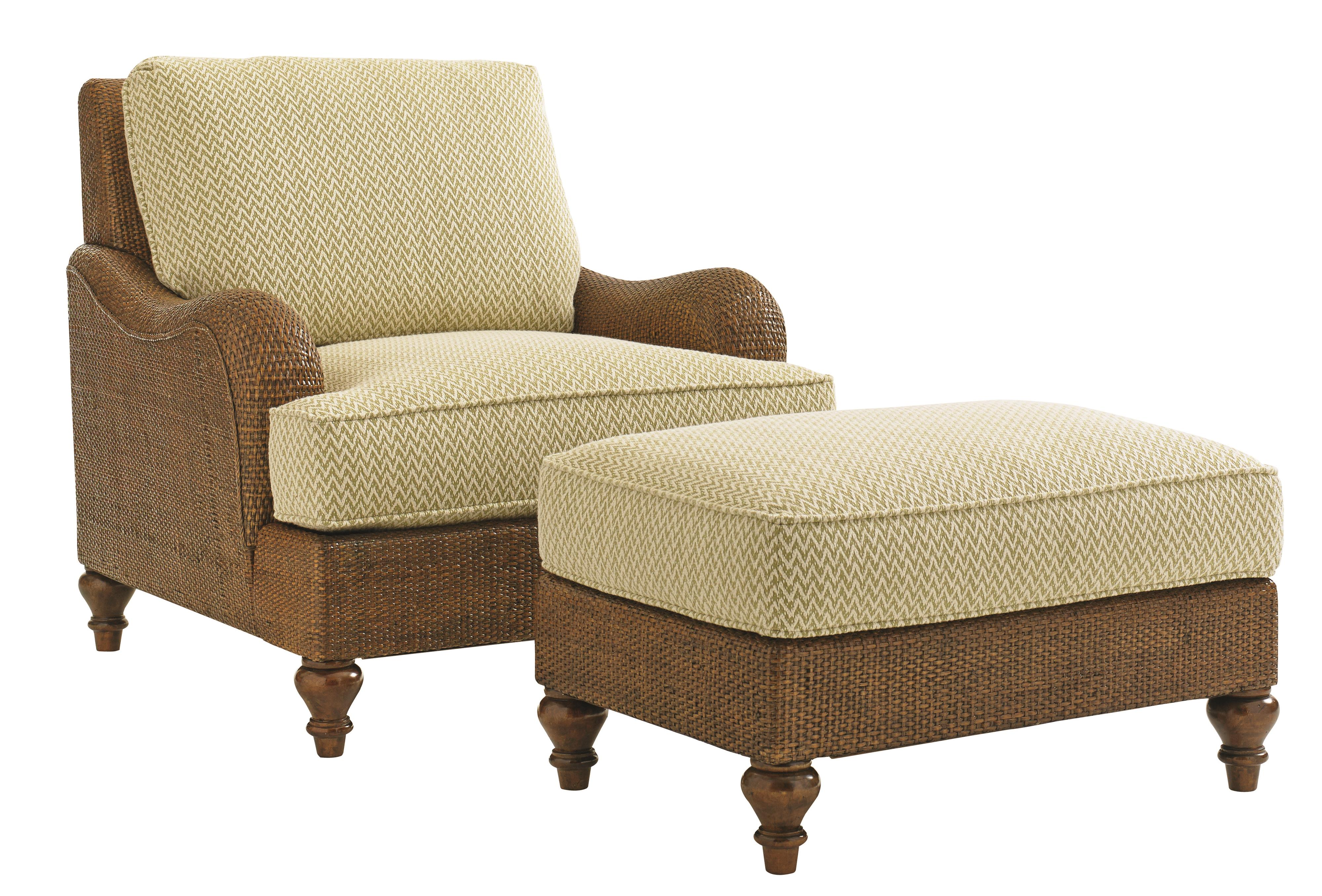 Tommy Bahama Home Bali Hai Harborside Chair And Ottoman