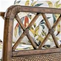 Tommy Bahama Home Bali Hai Glen Isle Chair with Wicker and Rattan Frame