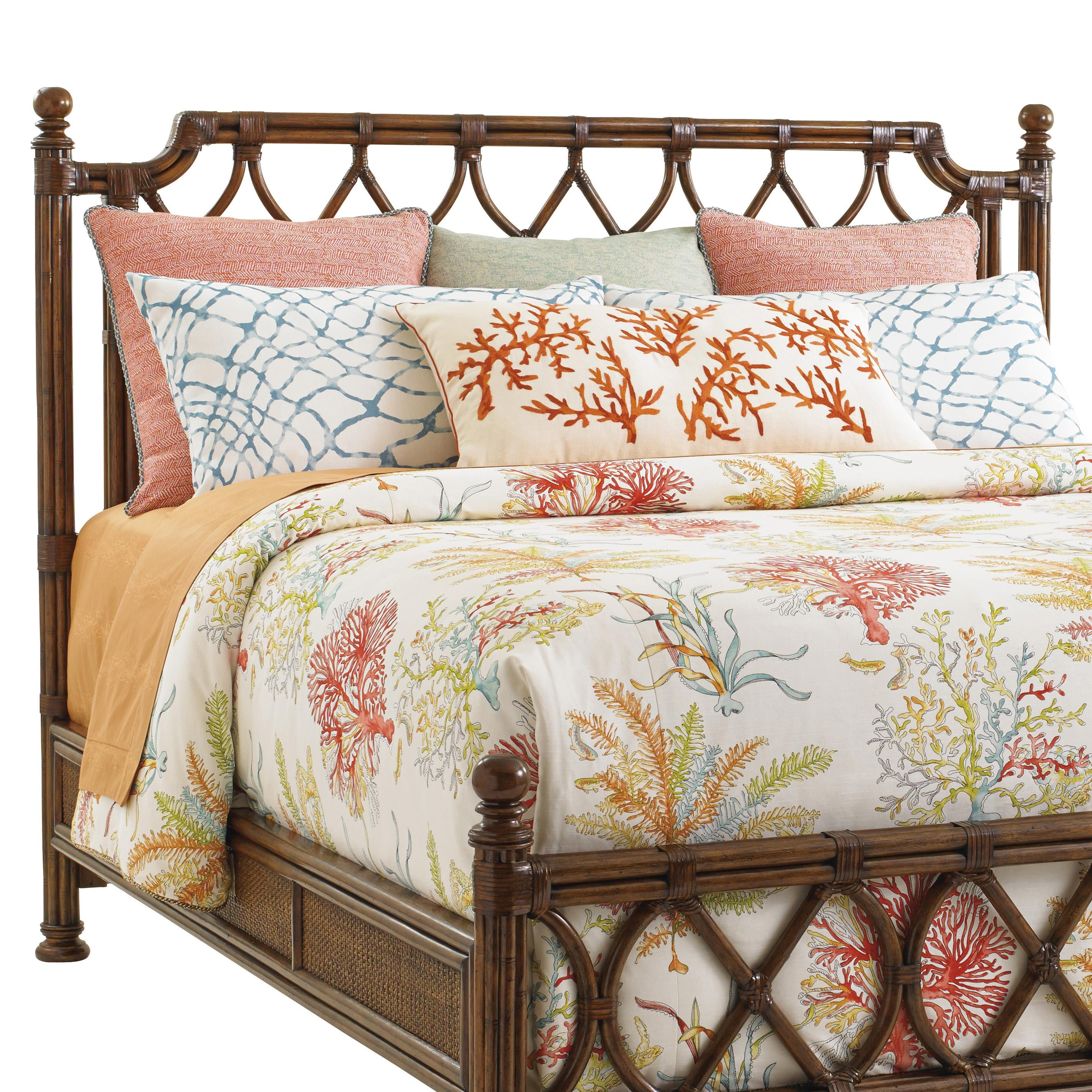 Bali Hai Island Breeze Rattan Headboard by Tommy Bahama Home at Baer's Furniture
