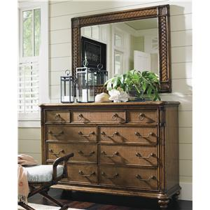 Tommy Bahama Home Bali Hai Breakers Double Dresser and Mirror Set