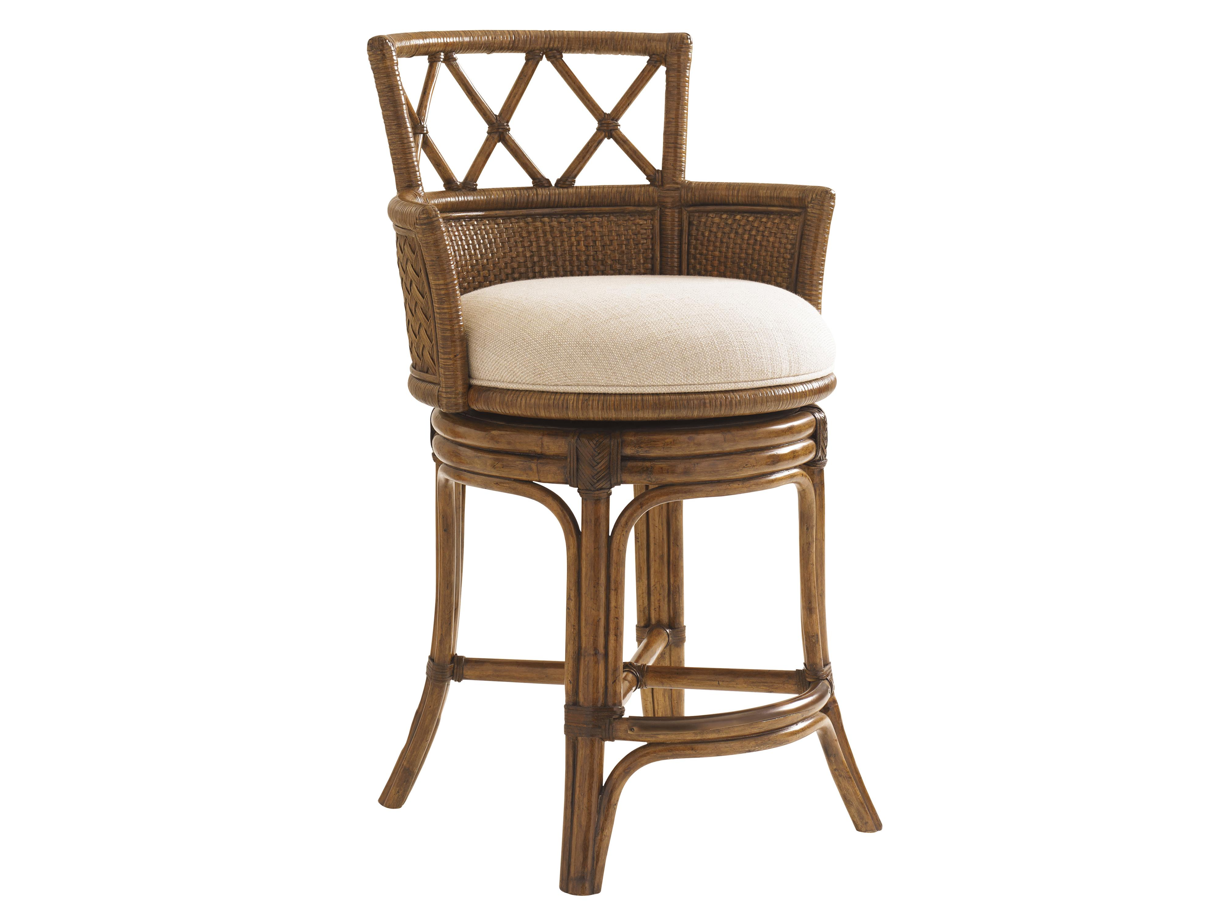 Bali Hai Customizable Kamala Bay Swivel Counter Stool by Tommy Bahama Home at Baer's Furniture