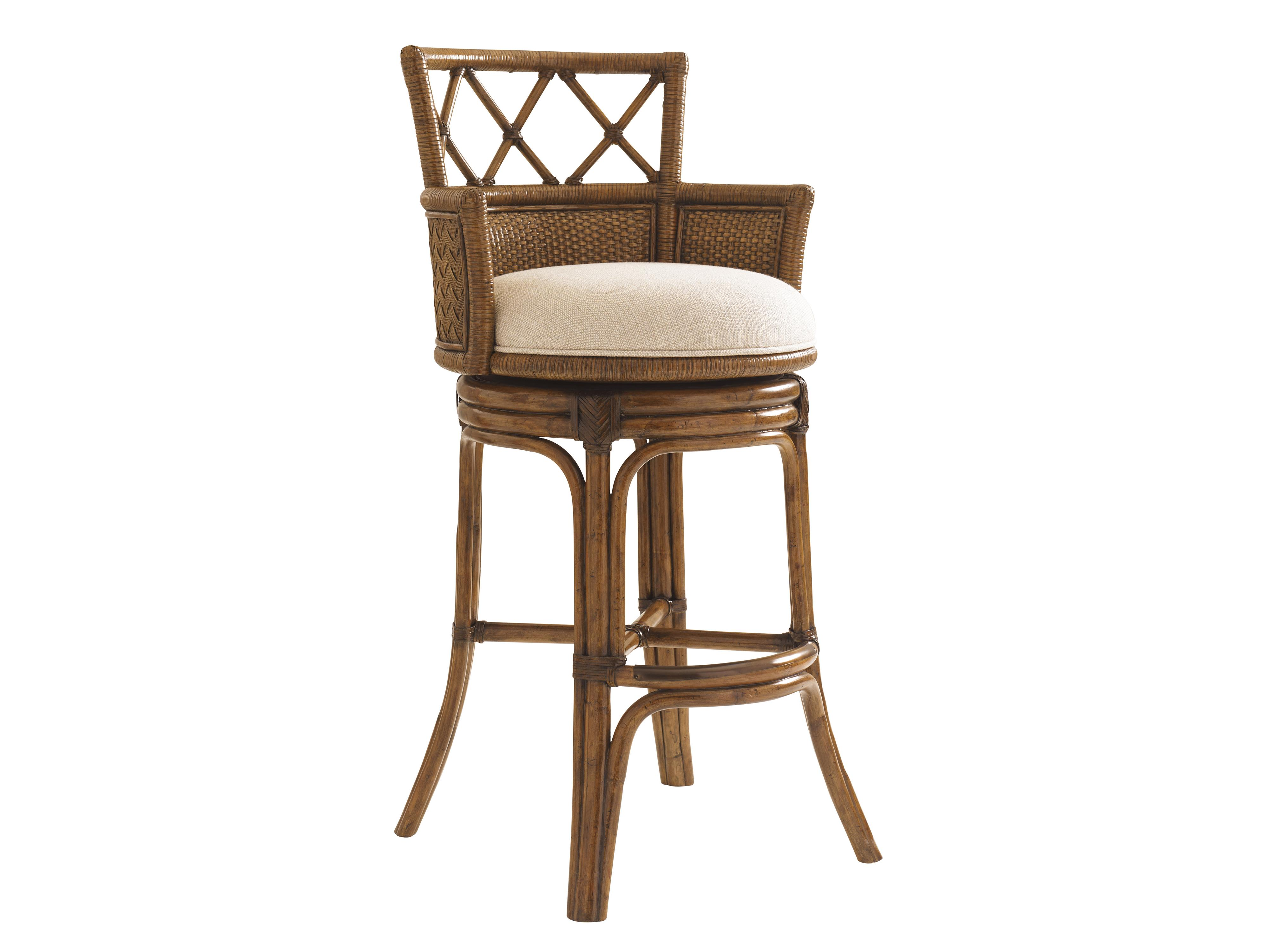 Quickship Kamala Bay Swivel Bar Stool
