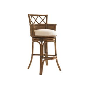Tommy Bahama Home Bali Hai Quickship Kamala Bay Swivel Bar Stool