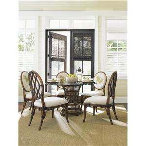 Tommy Bahama Home Bali Hai Tropical 5 Piece Dining Room Set