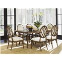 Tommy Bahama Home Bali Hai 7 Piece Dining Set - Item Number: 593-876C+2x881-02+4x880-01