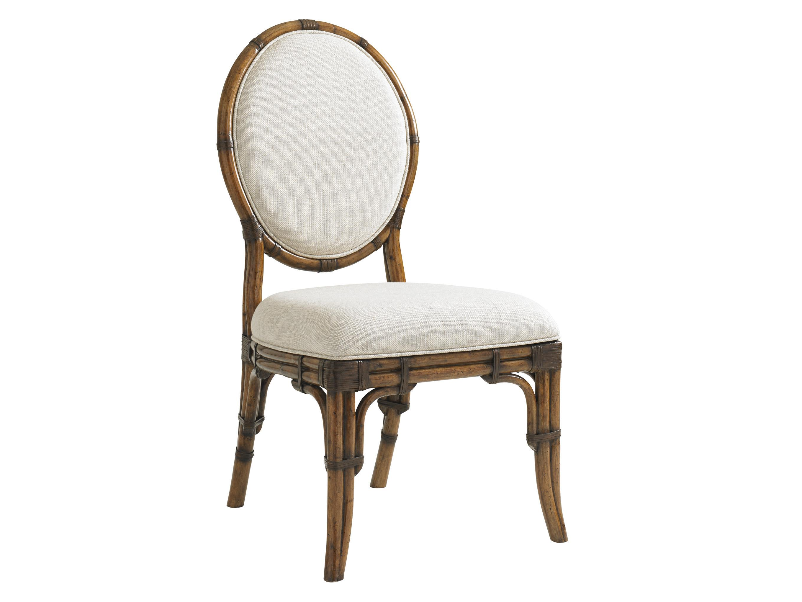 Bali Hai Quickship Gulfstream Oval Back Side Chair by Tommy Bahama Home at HomeWorld Furniture