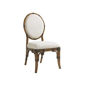 Tommy Bahama Home Bali Hai Custom Gulfstream Oval Back Side Chair