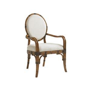 Custom Gulfstream Oval Back Arm Chair