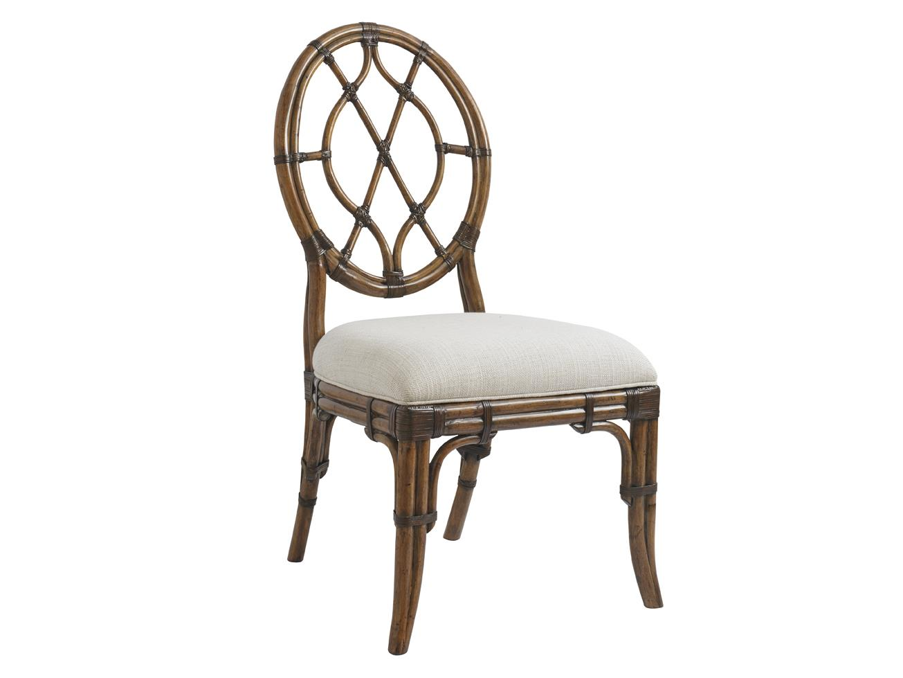 Tommy Bahama Home Bali Hai Quickship Cedar Key Oval Back Side Chair - Item Number: 593-886-01