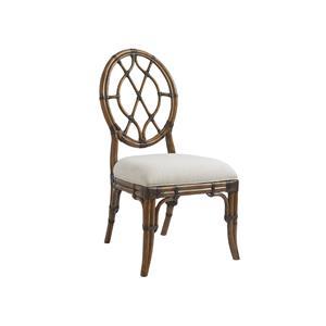 Tommy Bahama Home Bali Hai Custom Cedar Key Oval Back Side Chair