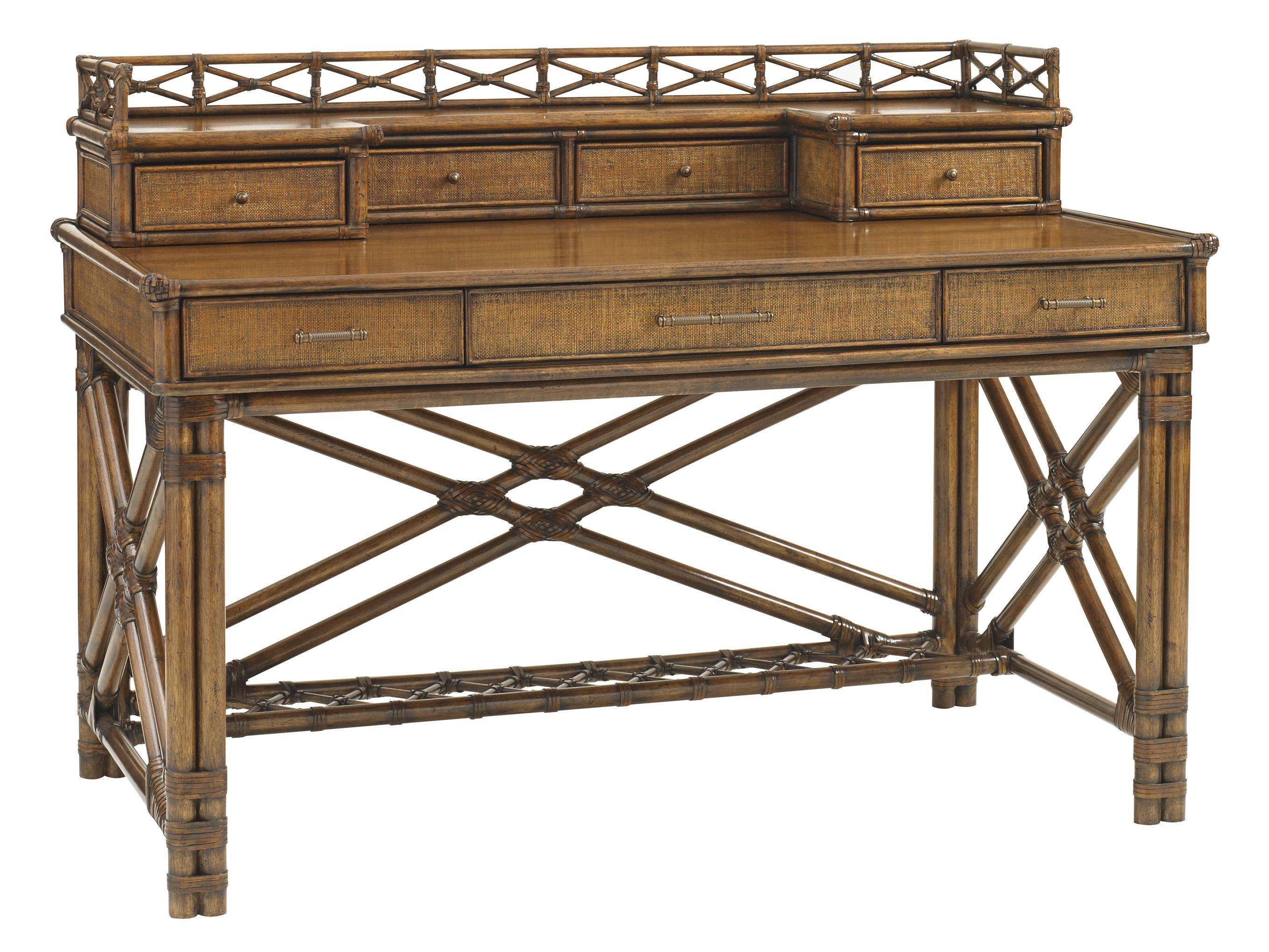 Tommy Bahama Home Bali Hai Enchanted Isle Desk and Box of Drawers - Item Number: 593-933+933B