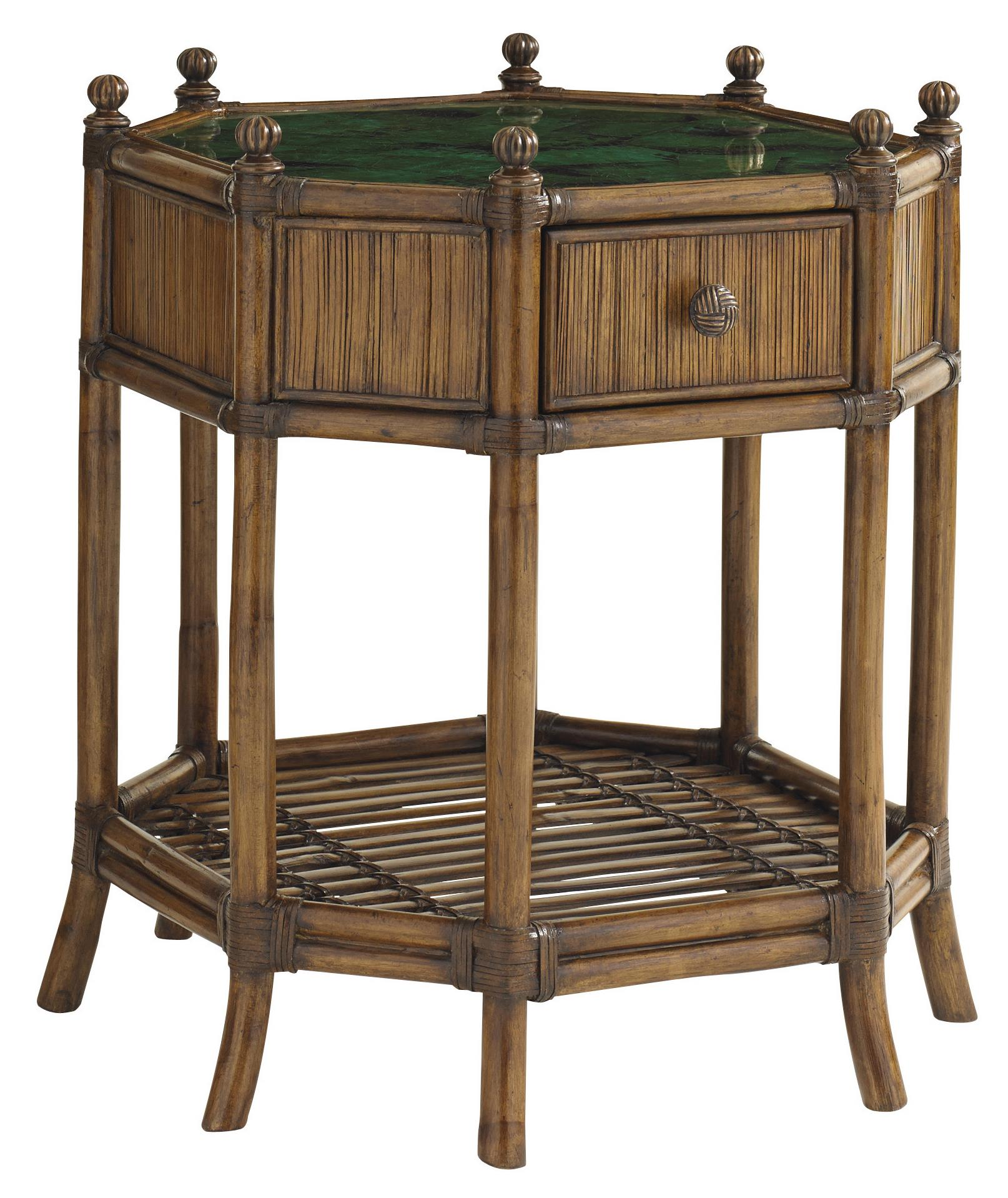 Bali Hai Flamingo Octagonal End Table by Tommy Bahama Home at Baer's Furniture
