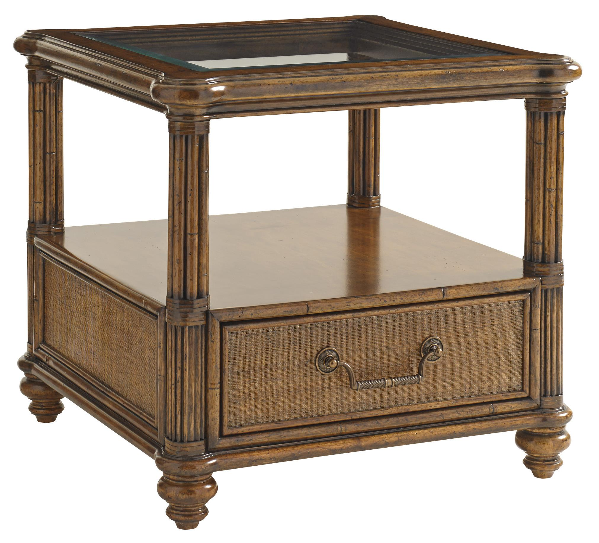 Bali Hai Bimini Square End Table by Tommy Bahama Home at Baer's Furniture