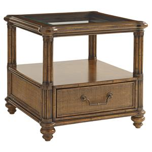 Tommy Bahama Home Bali Hai Bimini Square End Table