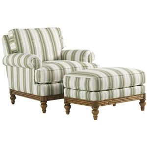 Tommy Bahama Home Beach House Golden Isle Chair and Ottoman