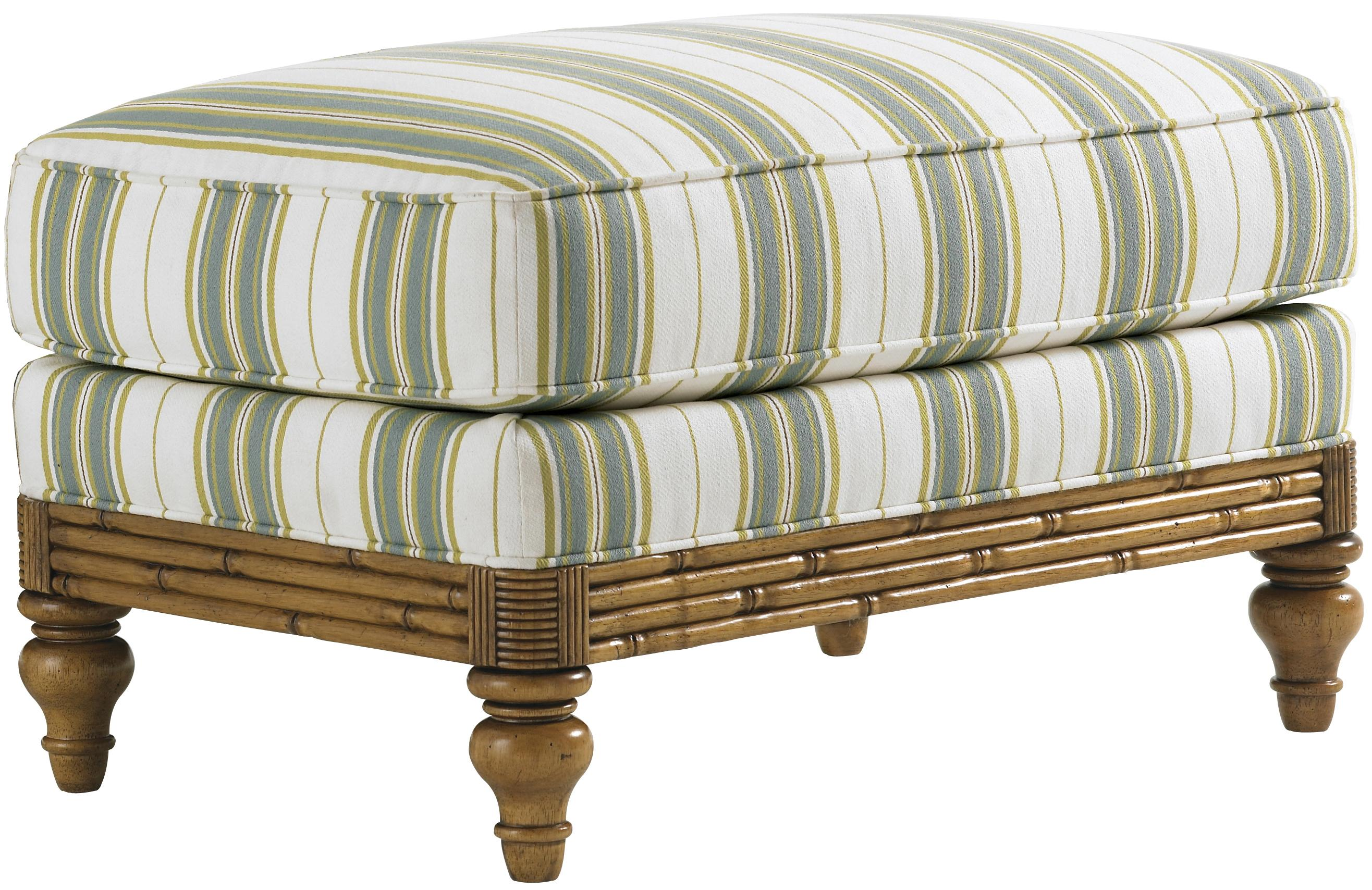 Beach House Golden Isle Ottoman by Tommy Bahama Home at Baer's Furniture