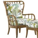 Tommy Bahama Home Beach House Island-Inspired Exposed Rattan Winged Sunset Cove Chair - Choose From an Assortment of Fabrics to Custom Upholster this Piece In