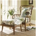 Tommy Bahama Home Beach House Island-Inspired Exposed Rattan Winged Sunset Cove Chair - Shown with Sunset Cove Ottoman