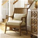 Tommy Bahama Home Beach House Oasis Rattan Back Chair - Shown with Tarpon Springs Hall Chest