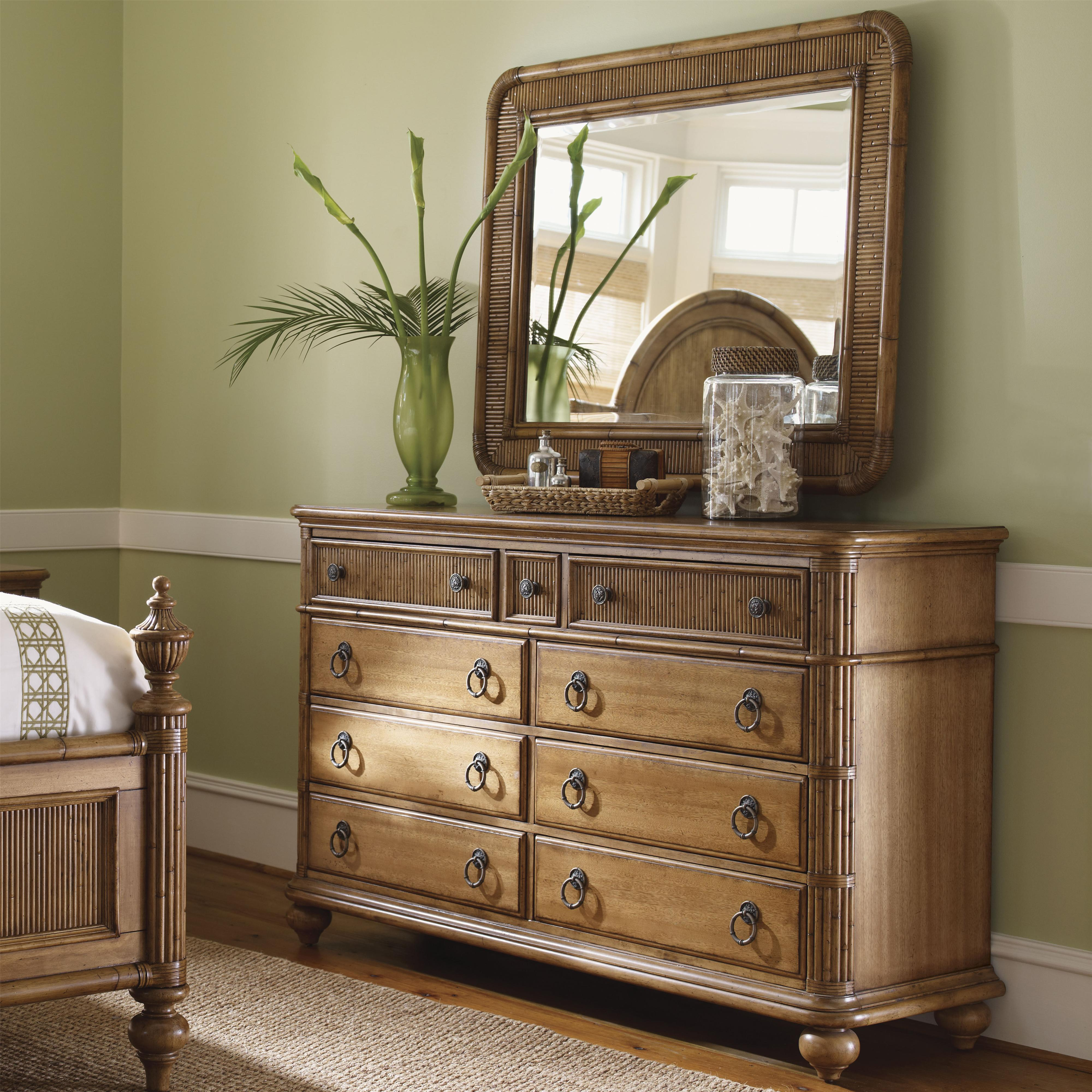 Tommy Bahama Home Beach House Biscayne Dresser & Osprey Mirror - Item Number: 540-233+205