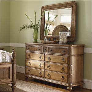 Tommy Bahama Home Beach House Biscayne Dresser & Osprey Mirror