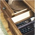 Tommy Bahama Home Beach House Three-Door Three-Drawer Siesta Key Buffet with Silverware Holder - Felt-Lined Drawers with a Silverware Divider in the Center Drawer