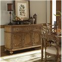 Tommy Bahama Home Beach House Three-Door Three-Drawer Siesta Key Buffet with Silverware Holder - Style Your Dining Space with Fashion and Function