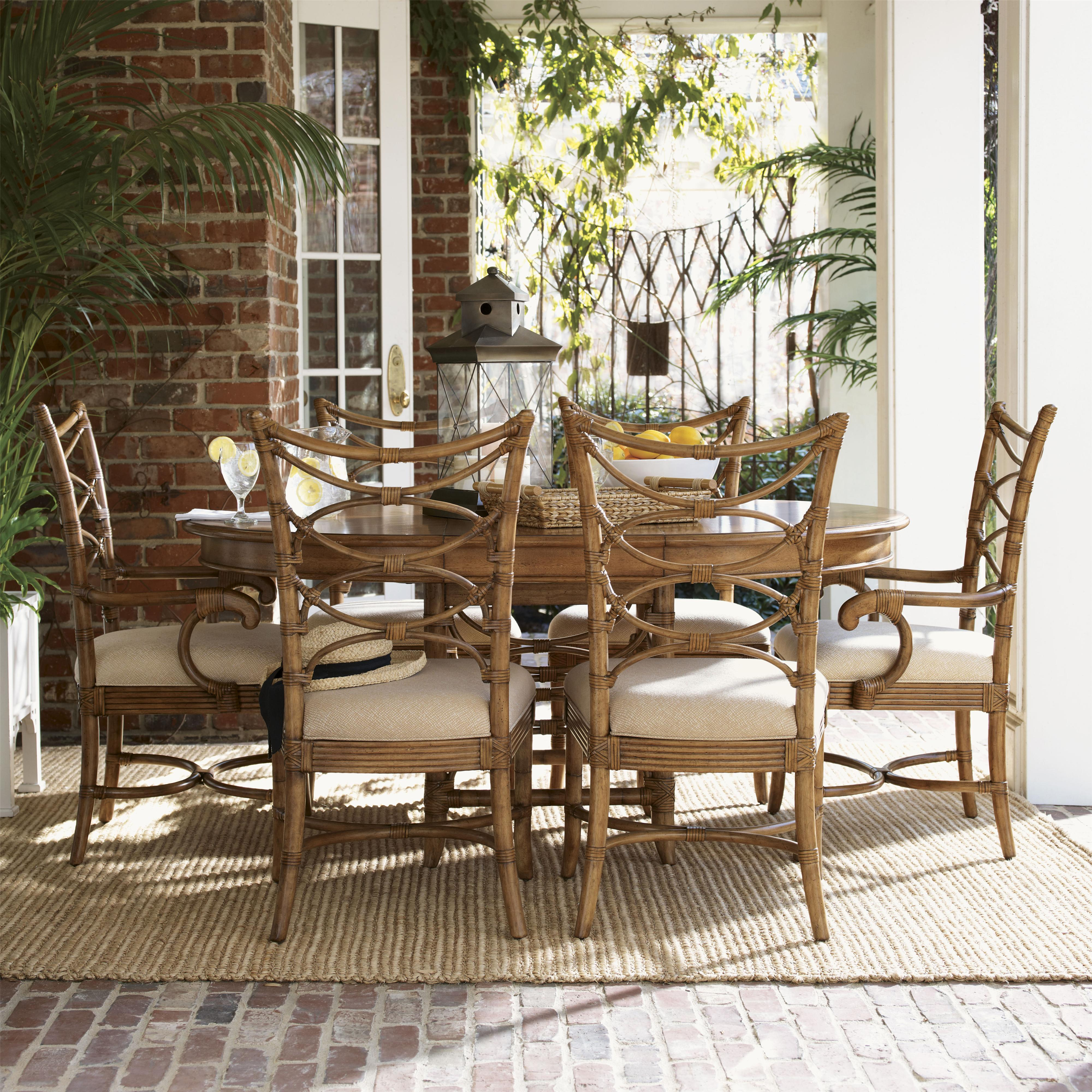 Tommy bahama home beach house seven piece coconut grove for S bent dining room furniture