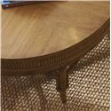 Tommy Bahama Home Beach House Oyster Cove Round Cocktail Table with Bamboo & Rattan Accents - Reeded Bamboo Detailed Surround the Tabletop